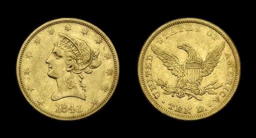 $10, 1843 VF-35 (PCGS).    Eve