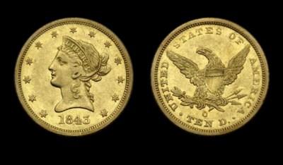 $10, 1843-O EF-40 (PCGS).    A