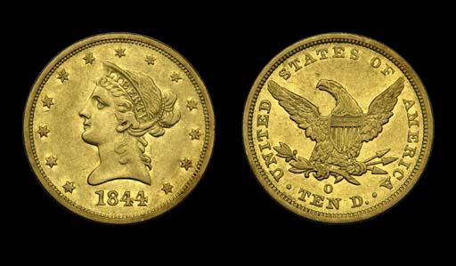 $10, 1844-O EF-45 (PCGS).    R