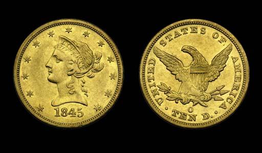 $10, 1845-O AU-50 (PCGS).    B
