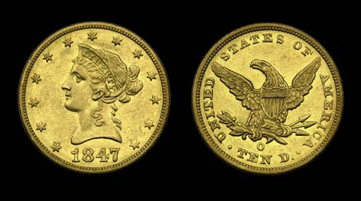 $10, 1847-O AU-55 (PCGS).    L