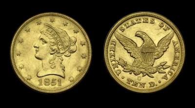 $10, 1851-O AU-58 (PCGS).    B