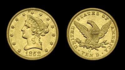 $10, 1852-O EF-45 (PCGS).    M