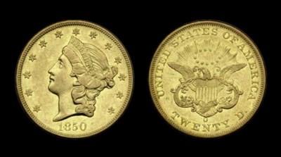 $20, 1850-O AU-50 (PCGS).    L