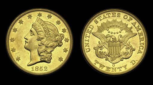 $20, 1852-O AU-58 (PCGS).    L