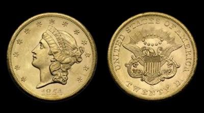 $20, 1854-S MS-63 (PCGS).    V