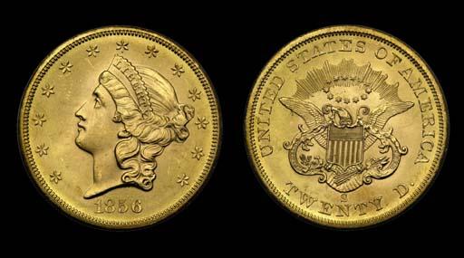 $20, 1856-S MS-66 (PCGS).    V