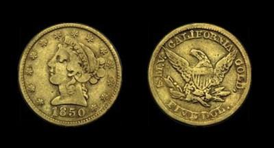 1850 Moffat & Co. $5 gold. K-7