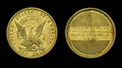 1852  1 Augustus Humbert, U.S.