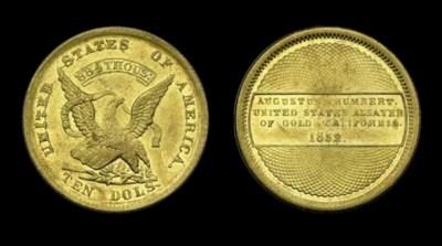1852 Augustus Humbert, U.S. As