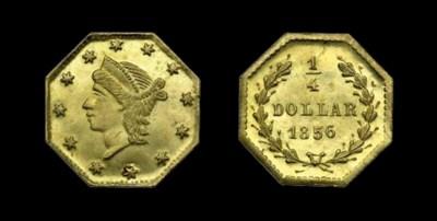 1856 Octagonal 25 cents. BG-11