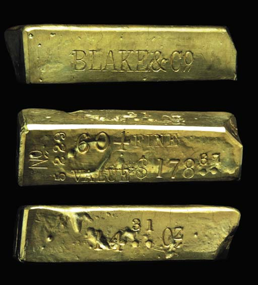 Blake & Co., Sacramento. Gold
