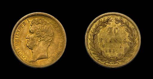 France. 1831-A 20 Francs. Incu
