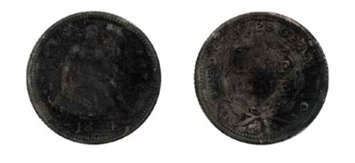 1854 Half Dime. With Arrows. S