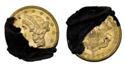 San Francisco $20 gold with en