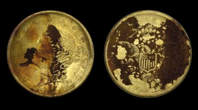 1854 Kellogg $20. Short Arrows