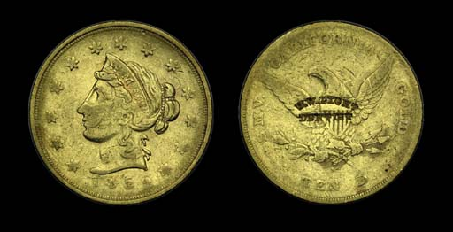 1852 Wass Molitor & Co. $10 go