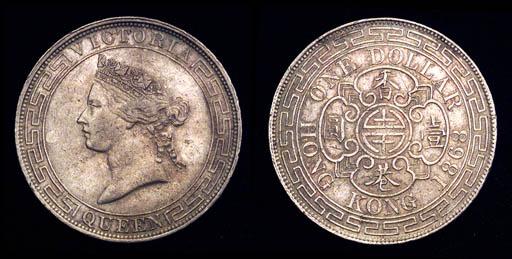 Victoria, Dollar, 1867, a similar coin (Prid.2; KM.10), very fine