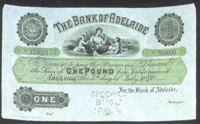 Bank of Adelaide, specimen £1,