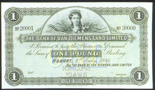 Bank of Van Diemens Land, spec