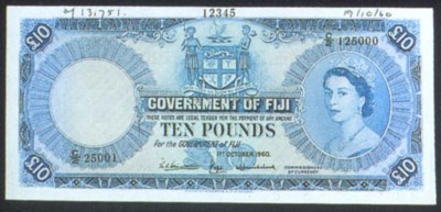 Government Issue, specimen £10
