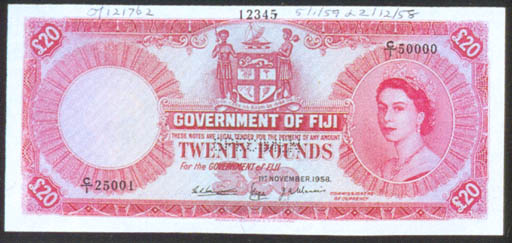 Government Issue, specimen £20
