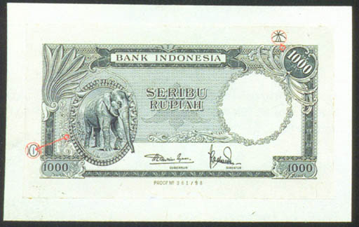 Bank Indonesia, obverse 1000 r