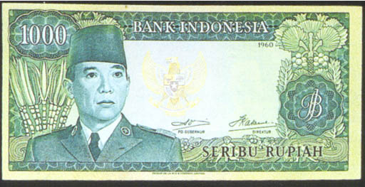 QQA selection of the 1960 (resumed) issue, all with President Sukarno at left