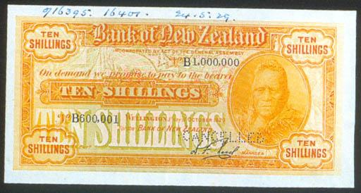 Bank of New Zealand, 10 shilli