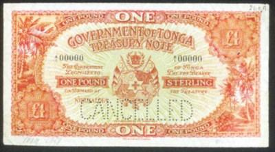 Government Issue, Specimen £1