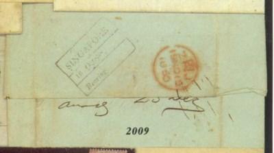 cover 1850 (12 Aug.) entire le