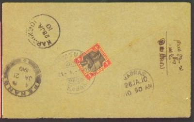 cover 1910 (21 Jan.) envelope