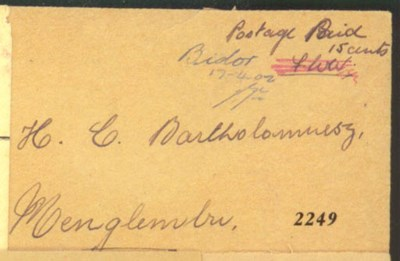 cover 1942 (17 Apr.) envelope