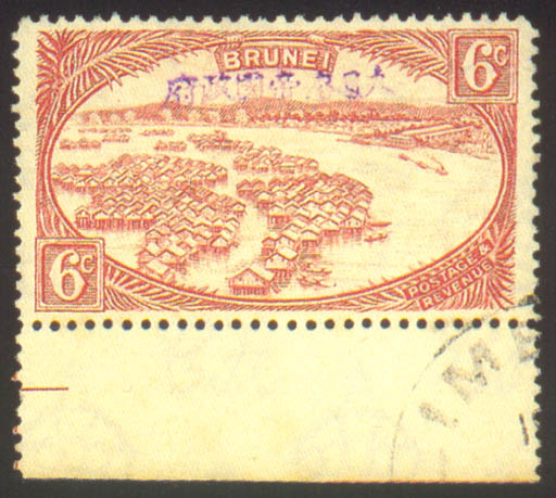 used   6c. red, a marginal exa