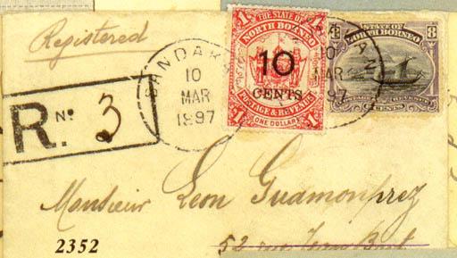 cover 1897 (10 Mar.) envelope