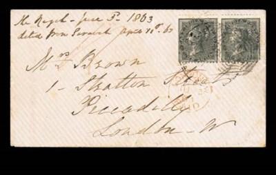cover 1863 (3 June) envelope t