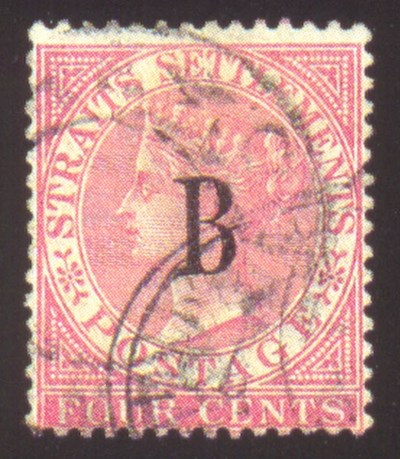 used  1882-85 CC 4c. rose canc