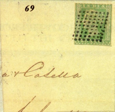 cover 1855 (21 Mar.) entire le