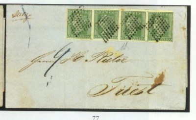 cover 1855 (18 Sept.) entire t