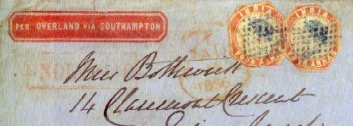 cover 1855 (22 Nov.) envelope