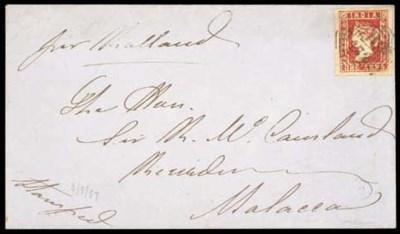 cover 1857 (6 Mar.) envelope t