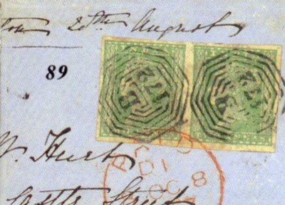 cover 1857 (Aug.) envelope to