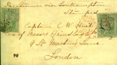 cover 1857 (15 Sept.) envelope