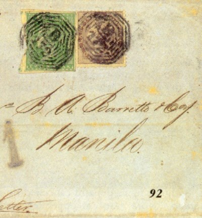 cover 1857 (28 Oct.) entire to