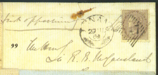 cover 1864 (29 Aug.) envelope