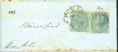 cover 1865 (21 Sept.) envelope