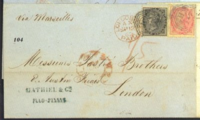 cover 1862 (7 Aug.) entire to