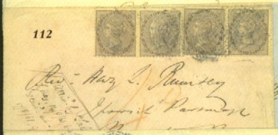 cover 1861 envelope addressed