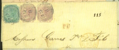 cover 1867 (June) entire to Bo