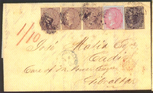 cover 1859 (27 July) entire le